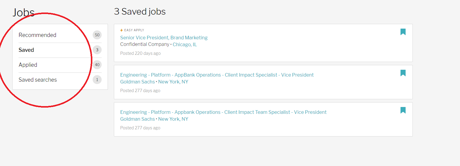 How many jobs will appear on the Track page? – Ladders